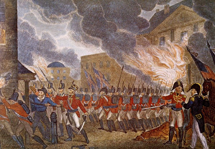 Canadians Burning The White House 1814 Professor Buzzkill